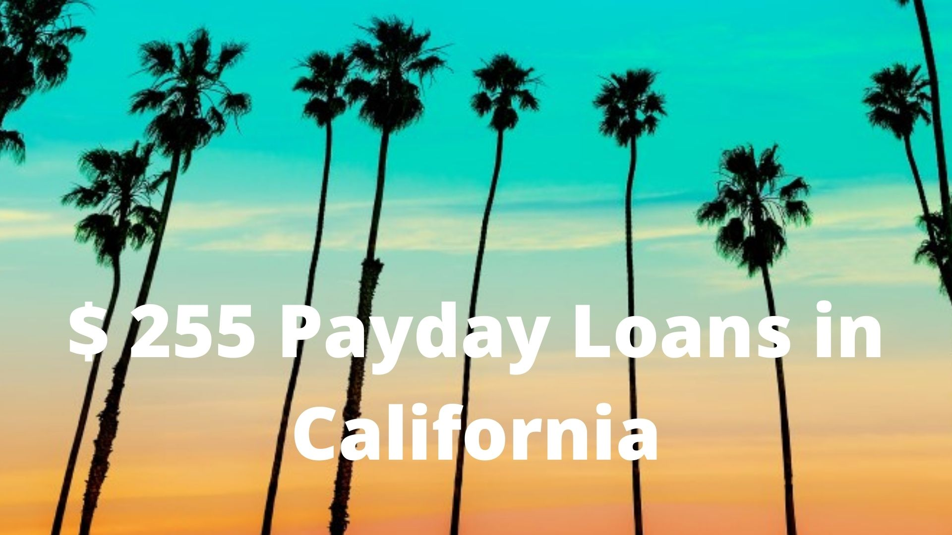 California Online Payday Loans up to $255